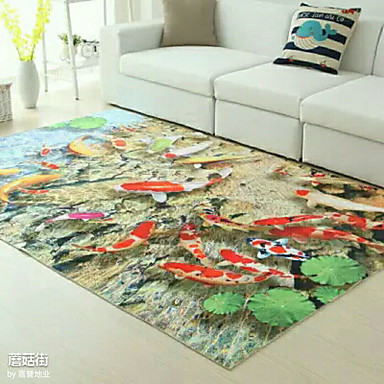 Kreativ Tradisjonell Badematter polyester, Overlegen kvalitet Firkant Formet Multi-farge Teppe