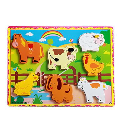 voordelige 3D-puzzels-Legpuzzels Educatief speelgoed / Legpuzzel Bouw blokken DIY Toys Rabbit / Kat / Honden / Varken 8 Hout Regenboog Ontspannende hobby's