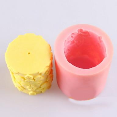 Blume geformt Kerze Schimmel, Seifenformen mooncake Form-Fondant-Kuchen Schokoladensilikonform, Dekorationswerkzeuge Backformen