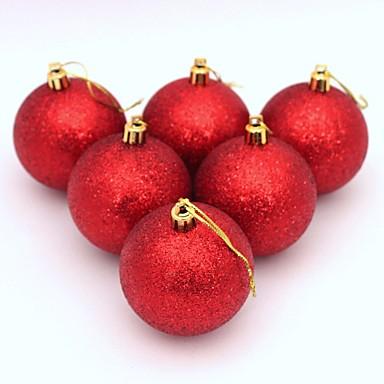 6stk Juletre Baller Diameter 6cm Dekorasjoner Ball Xmas Festet Bryllup Ornament