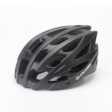 XINTOWN バイクヘルメット 28 通気孔 サイクリング 調整可 ワンピース 都市 マウンテン バイザー付き 超軽量(UL) スポーツ 青少年 PC EPS ロードバイク レクリエーションサイクリング サイクリング / バイク マウンテンバイク
