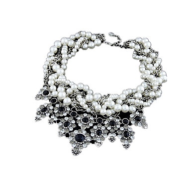 Dame Halskjede Perlekjede Uttalelse Halskjeder Imitert Perle Syntetiske Edelstener Perle Imitert Perle Legering Unikt design