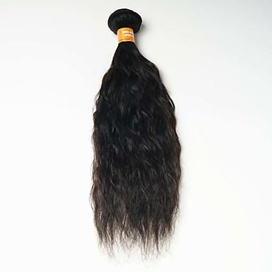 Menneskehår Vevet Indisk hår Naturlige bølger 12 måneder 1 Deler hår vever