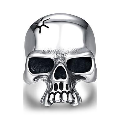男性用 指輪 ステンレス鋼 スカル ジュエリー Halloween 日常 カジュアル スポーツ