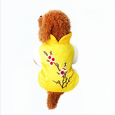 Koira Neulepaidat Koiran vaatteet Hengittävä Sievä Rento/arki Pidä Lämmin Kukka Keltainen Asu Lemmikit