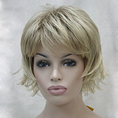 Szintetikus haj paróka Hullámos Réteges frizura Bretonnal Carnival Paróka Halloween paróka R10-26 33A 130A 15BT613 V6