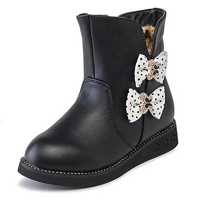 女の子 靴 レザー コンフォートシューズ ブーツ 用途 カジュアル ブラック レッド ピンク