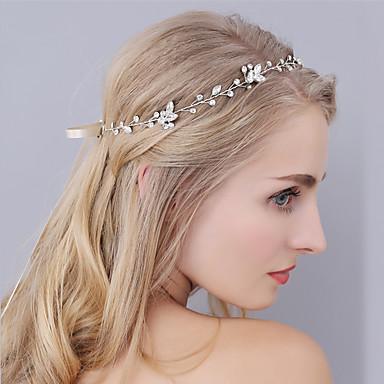 حجر الراين بندانة رأس / أغطية الرأس مع ورد 1PC زفاف / مناسبة خاصة خوذة