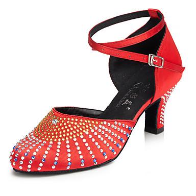 Damen Modern Seide Absätze Innen Stöckelschuh Schwarz Rot Hautfarben Maßfertigung
