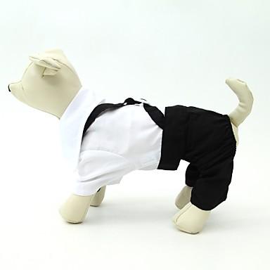 犬 コスチューム タキシード 犬用ウェア キュート 誕生日 結婚式 カラーブロック ブラックとホワイト コスチューム ペット用