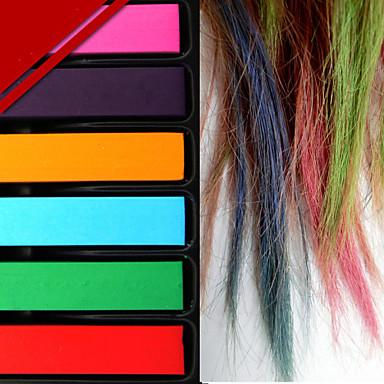 Parti dekorasyon moda sıcak hızlı geçici pastel saç boyası renk kadınlar için belirlenen 6 renk / tebeşir