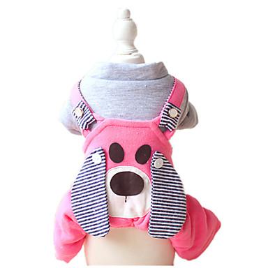Koira Haalarit Koiran vaatteet Sievä Sarjakuva Keltainen Sininen Pinkki