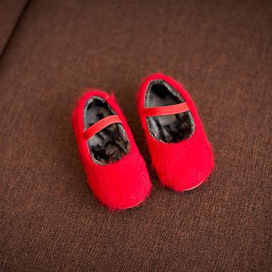 女の子 赤ちゃん 靴 その他アニマルスキン コンフォートシューズ フラット 用途 カジュアル ブラック グレー レッド