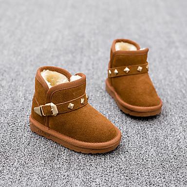 Lasten Tyttöjen Vauvat kengät Nahka Talvi Comfort Talvisaappaat Bootsit Niiteillä varten Kausaliteetti Kameli