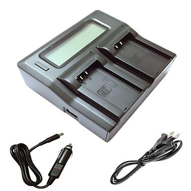 アンel20 J1 J2 J3 A AW1 S1カメラbatterys nikonのための車の充電ケーブルとismartdigi el20 LCDデュアル充電器