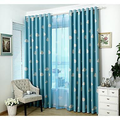 Propp Topp Et panel Window Treatment Moderne, Trykk Barnerom Poly/ Bomull Blanding Materiale Blackout Gardiner Hjem Dekor