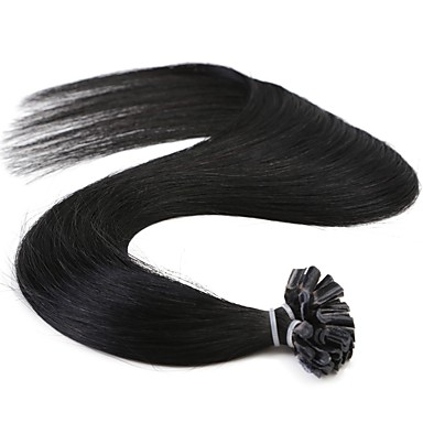 Fusion /U Tip Human Hair Extensions Straight 50 Strands/Pack 16 inch