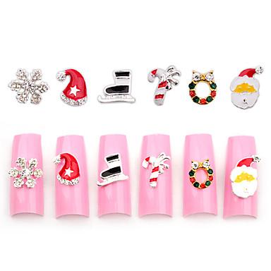 10pcs Neglekunst Dekor Rhinstenperler Sminke Kosmetikk Neglekunst Design