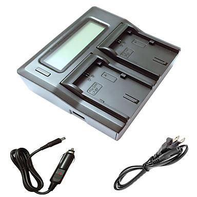 キヤノン5D2 5D3 6D 7Dの7D2 60D 70Dカメラbatterysのための車の充電ケーブルとismartdigi lpe6 LCDデュアル充電器