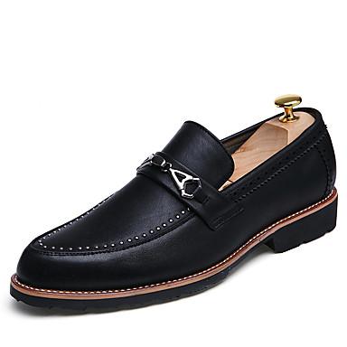 Oxford-kengät-Tasapohja-Miesten-PU-Musta Harmaa-Rento-Comfort