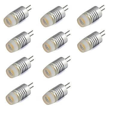 10pcs 1W 200lm G4 LED Bi-Pin lamput T LED-helmet Teho-LED Lämmin valkoinen Kylmä valkoinen 12V