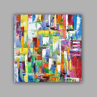 Maalattu Abstrakti Neliö, Klassinen Moderni Kangas Hang-Painted öljymaalaus Kodinsisustus 1 paneeli