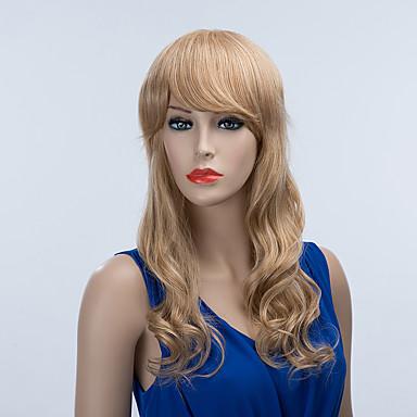 シックなロングキャップレスは自然なウェーブのかかった人間の毛髪のかつら