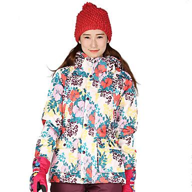 スキージャケット 男性用 女性用 スキー ウィンタースポーツ 防水 保温 防風 耐久性 高通気性 ポリエステル 冬物ジャケット