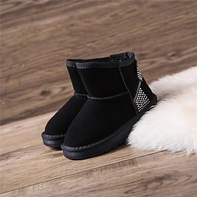 Bootsit-Tasapohja-Tyttöjen-Mokkanahka-Musta Persikka Punainen Pinkki-Rento-Comfort