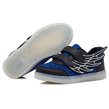 Tyttöjen kengät PU Kevät Syksy Comfort Urheilukengät Kävely varten Kausaliteetti Valkoinen Vihreä Pinkki Laivastosininen