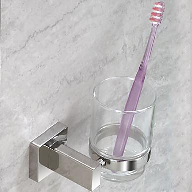 歯ブラシホルダー 歯ブラシカップ コンテンポラリー ブラッシュドニッケル 壁式