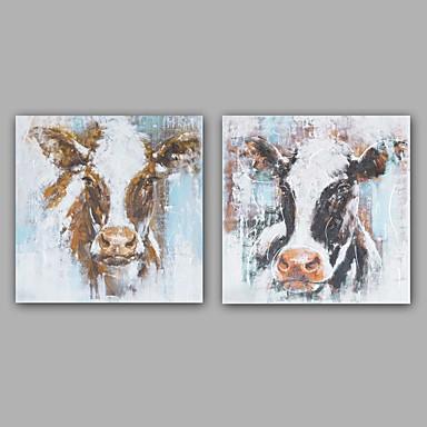 Maalattu Abstrakti Eläin öljymaalauksia,Moderni Classic 1 paneeli Kanvas Hang-Painted öljymaalaus For Kodinsisustus
