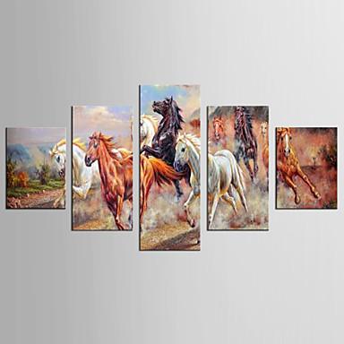 Leinwand-Set Abstrakt Tier Stil Modern,Fünf Panele Leinwand Jede Form Druck-Kunst Wand Dekoration For Haus Dekoration