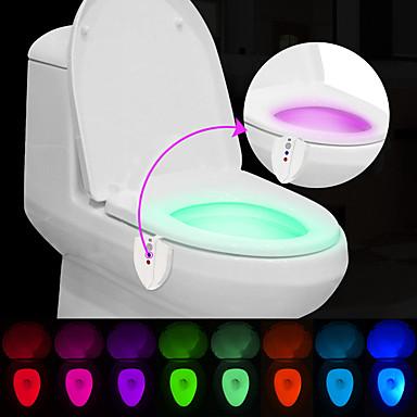 BRELONG® 1 pieza Luz de baño Con Sensor Impermeable Luz Ultravioleta Color variable