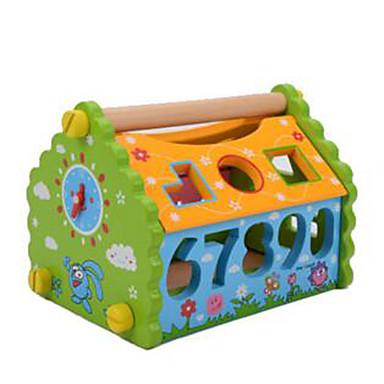 ブロックおもちゃ 知育玩具 おもちゃ 方形 家 アイデアジュェリー ウッド 男の子 女の子 1 小品