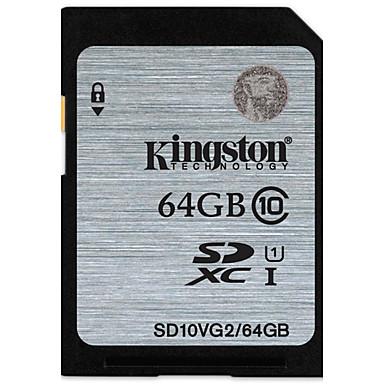 abordables Cartes Mémoire-Kingston 64Go carte SD carte mémoire UHS-I U1 Class10