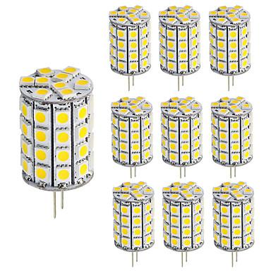4W G4 LED2本ピン電球 T 30 SMD 5050 460 lm 温白色 クールホワイト 明るさ調整 装飾用 DC 12 V 10個