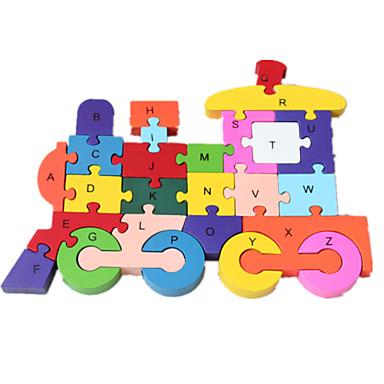 voordelige 3D-puzzels-Legpuzzels Legpuzzel Bouw blokken DHZ-speelgoed Trein 1 Hout