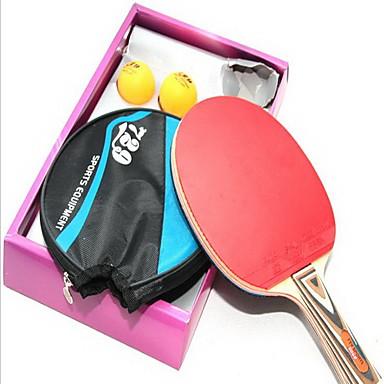 Ping Pang / Table Tennismailat Puu Lyhyt kahva / Näppylöitä Lyhyt kahva / Näppylöitä 1 Mailat / Pingispallot -