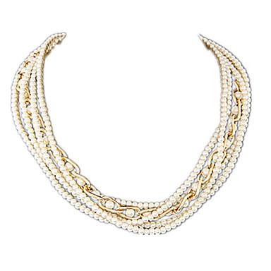 Women's Fashion Multi Layer Strands Necklaces Pearl Necklace Pearl Imitation Pearl Alloy Strands Necklaces Pearl Necklace , Party Daily