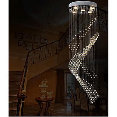 Moderne / Contemporain Lampe suspendue Lumière dirigée vers le bas - Cristal LED, 110-120V 220-240V, Blanc Crème Blanc Neige, Ampoule