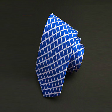 עניבה - משובץ (רשת) ( כחול , פוליאסטר )