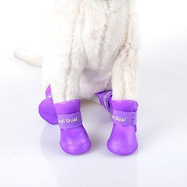 Kat / Hund Sko og støvler Vandtæt Ensfarget Rose / Grønn / Blå For kjæledyr / Sommer
