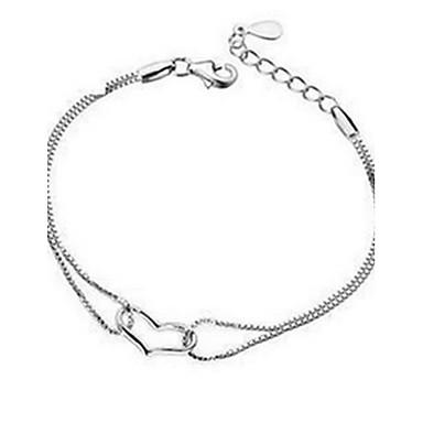 Damen Ketten- & Glieder-Armbänder Sterling Silber Silber Schmuck Für Party 1 Stück
