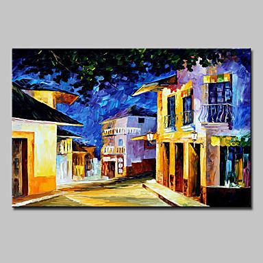 手描きの 風景 横式, 近代の キャンバス ハング塗装油絵 ホームデコレーション 1枚