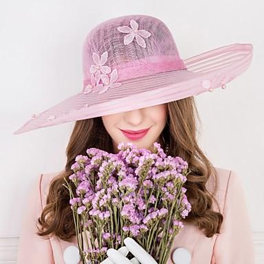 Mujer Perla Artificial Lino Celada-Boda Ocasión especial Casual Sombreros 1 Pieza