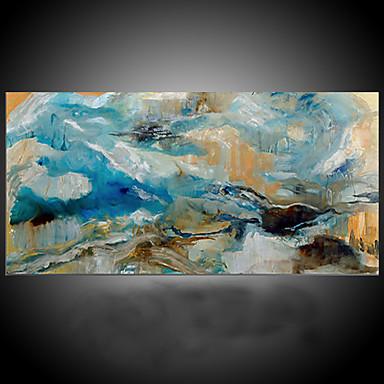 Pintura al óleo pintada a colgar Pintada a mano - Abstracto Modern Mediterráneo Lona