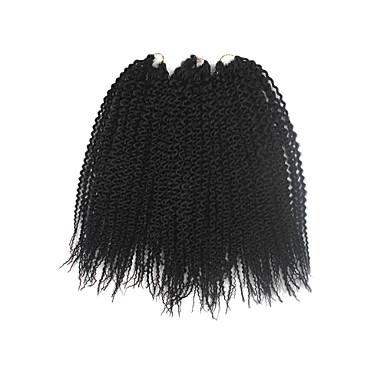 Trenzas ganchillo pre-loop Trenzas de cabello torsión Island 40cm Cabello 100 % Kanekalon Negro Cabello para trenzas Extensiones de