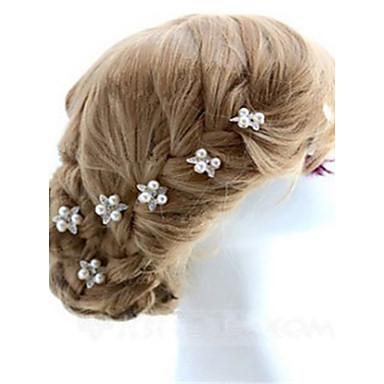 Perla Artificial / Brillante Pin de pelo con 1 Boda / Ocasión especial Celada