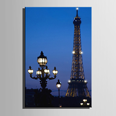 LEDキャンバスアート 風景 Modern,1枚 キャンバス 縦長 版画 壁の装飾 For ホームデコレーション